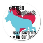 pawprints.png Round Car Magnet