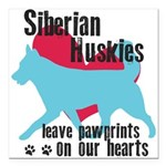 pawprints.png Square Car Magnet 3
