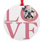love.png Round Ornament