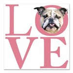 love.png Square Car Magnet 3