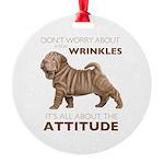 attitude.png Round Ornament