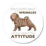 attitude.png Round Car Magnet