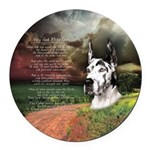 godmadedogs3.png Round Car Magnet