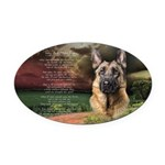 godmadedogs.png Oval Car Magnet