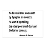 Patton on Winning a War Postcards (Package of 8)