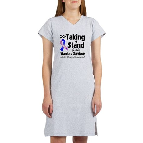 Stand Male Breast Cancer Women's Nightshirt
