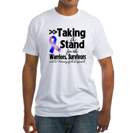 Stand Male Breast Cancer Fitted T-Shirt