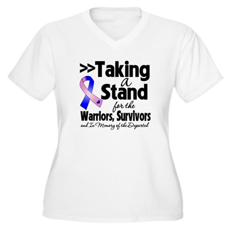 Stand Male Breast Cancer Women's Plus Size V-Neck