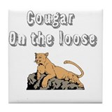 Cougar on the loose Tile Coaster