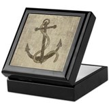 Vintage Anchor Keepsake Box