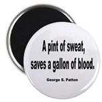 Patton Sweat & Blood Quote Magnet