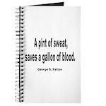 Patton Sweat & Blood Quote Journal