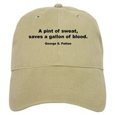 Patton Sweat & Blood Quote Baseball Cap