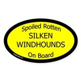 Spoiled Silken Windhounds On Board Decal
