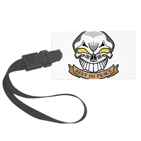 FRACTUREDrestinpeace copy.png Large Luggage Tag