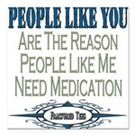 Medication copy.png Square Car Magnet 3