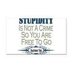 Stupidity copy.png Rectangle Car Magnet