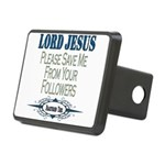 JesusSaveMe copy.png Rectangular Hitch Cover