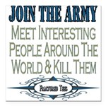 JOINTHE ARMY copy.png Square Car Magnet 3