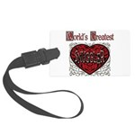 GreatestFracturedSnuggler.png Large Luggage Tag