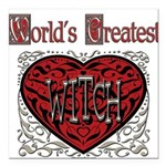 GreatestFracturedWitch.png Square Car Magnet 3