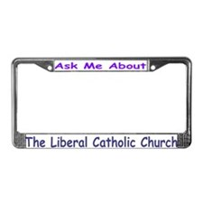 Ask Me --L.C.C. License Plate Frame