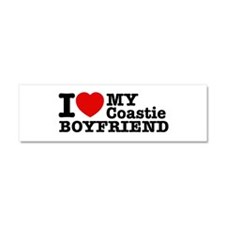 I Love My Coastie Boyfriend Car Magnet 10 x 3