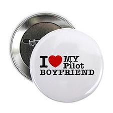 "I Love My Pilot Boyfriend 2.25"" Button (100 pack)"