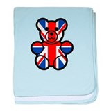 Brit Bear baby blanket