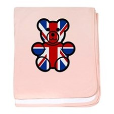 Brit Bear baby blanket
