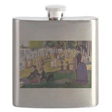 Cute Man and woman in park Flask