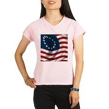 Wavy Betsy Ross Flag Performance Dry T-Shirt
