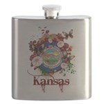 Butterfly Kansas Flask