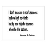 Patton's Measure of Success Small Poster