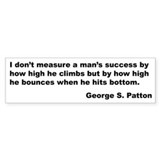 Patton's Measure of Success Bumper Bumper Sticker