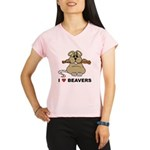 I Love Beavers Performance Dry T-Shirt