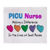 PICU Nurse.PNG Throw Blanket
