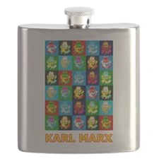 Pop Art Karl Marx Flask