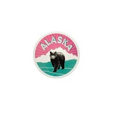 Alaska Bear Mini Button