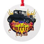duece coupe Round Ornament