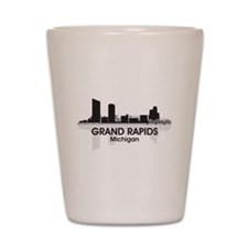 Grand Rapids Skyline Shot Glass