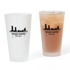 Grand Rapids Skyline Drinking Glass