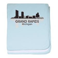 Grand Rapids Skyline baby blanket