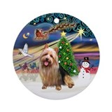 XmasMagic-AussieTerrier Ornament (Round)