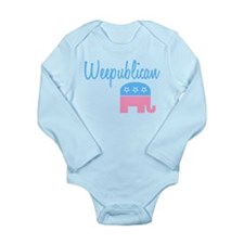 Unique Weepublican Long Sleeve Infant Bodysuit