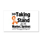 Stand Leukemia Car Magnet 20 x 12