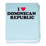 I Love Dominican Republic baby blanket