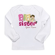 Big Sister Brunette Long Sleeve Infant T-Shirt