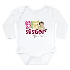 Big Sister Brunette Long Sleeve Infant Bodysuit