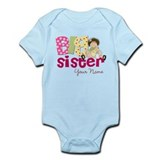 Big Sister Brunette Infant Bodysuit